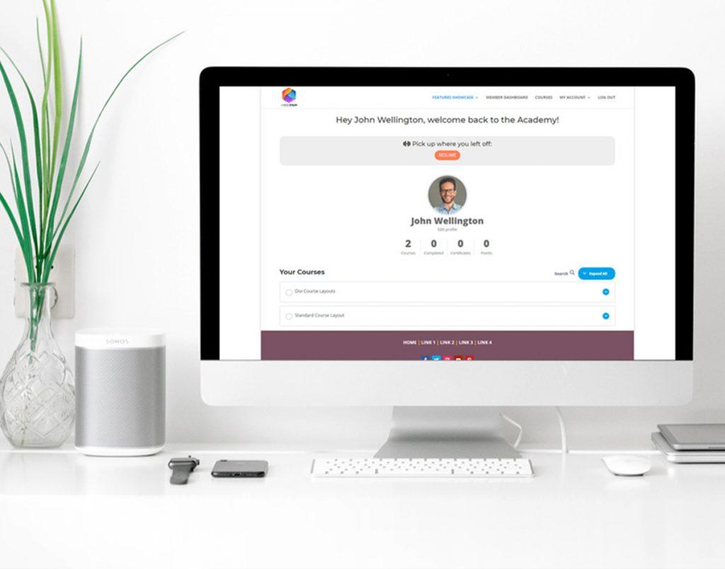 WordPress membership site built with Divi and Learndash