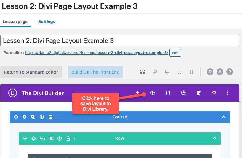 How to save Divi layout to Divi Library